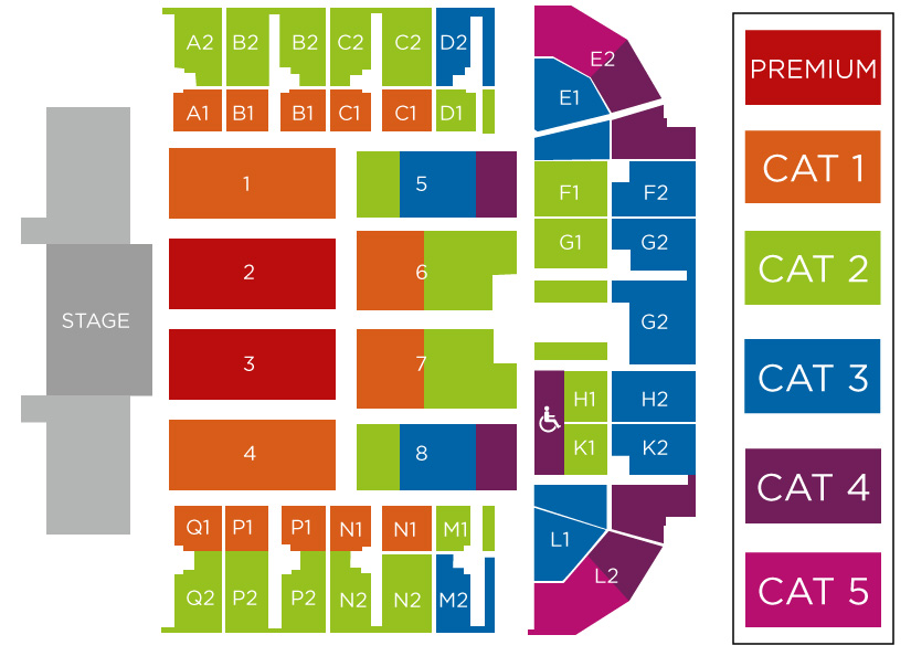 Andre Rieu Maastricht Concert Seating Plan